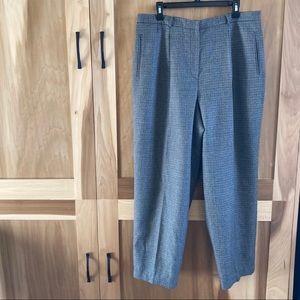 Lauren Ralph Lauren Grey Wool Houndstooth Trousers